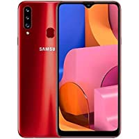 "Samsung Galaxy A20s A207M/DS, 32GB/3GB RAM Dual SIM 6.5""HD+ Snapdragon 450, Factory Unlocked (International Version) – (Red)"