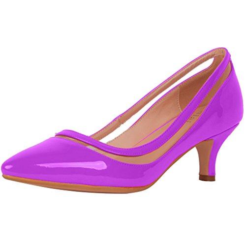 Calaier Mujeres Experience Zapatos Cerrados Con Tacón De Aguja 9.5cm Stiletto Zapatos Purple