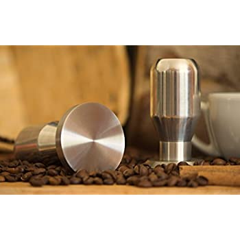 Modern Professional Coffee Espresso Tamper 100% Stainless Steel Base, Variety of Sizes. (50mm)