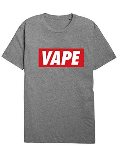 SODAtees Vape Unisex T-Shirt Cloud Chaser e Cig Drip vapourizer Tee -Gry-S