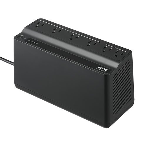 APC by Schneider Electric Back-UPS, 6 Outlets, 450VA, 120V, Retail