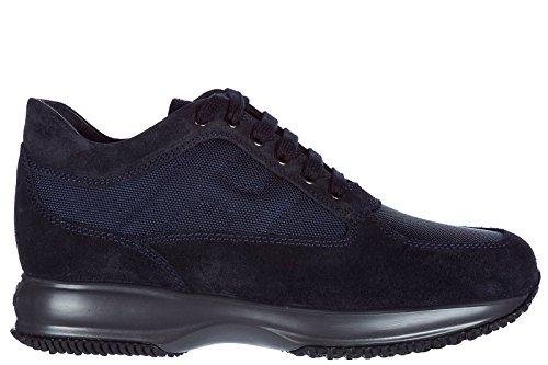 Hogan scarpe sneakers uomo camoscio nuove interactive blu Eastbay En Venta DmMiH