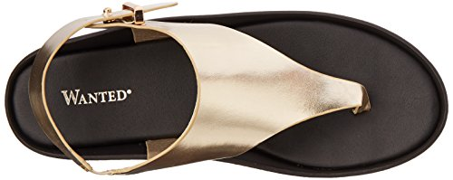 Wanted' Shoes Women's Moonbeam Gladiator Sandal Gold zijZcn