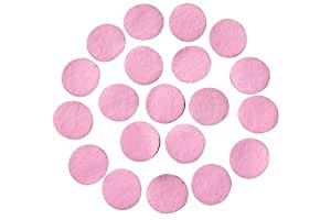 "Adhesive Felt Circles; Package of 48-50, 1.5"" Wide, Purple, Red, Brown, Black, White, Pink and Assorted Colours (Pink)"