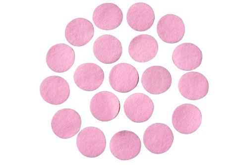Pink Adhesive Felt Circles; Package of 48, 1.5
