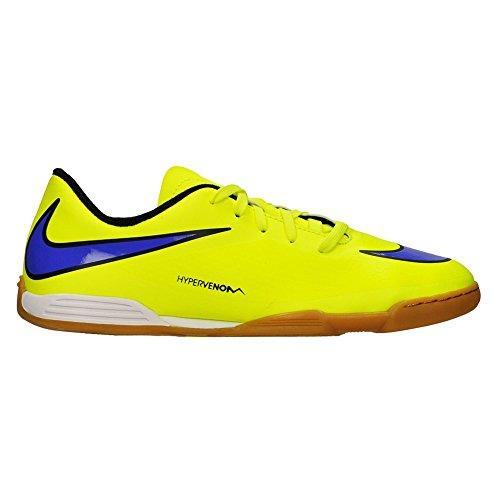 Nike - JR Hypervenom Phade IC - Couleur: Bleu-Jaune - Pointure: 35.0