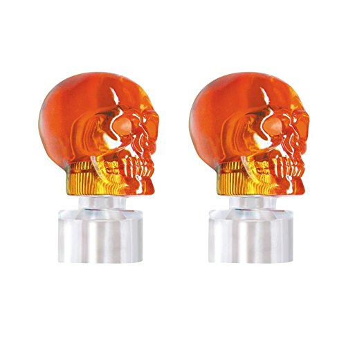 Amber United Pacific 86058 Stainless Steel Bumper Guide Kit w//Skull Light 2 Pack