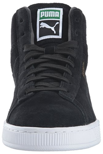 Sneaker Mid Puma Uomo Classico In Pelle Scamosciata Nero / Puma Bianco