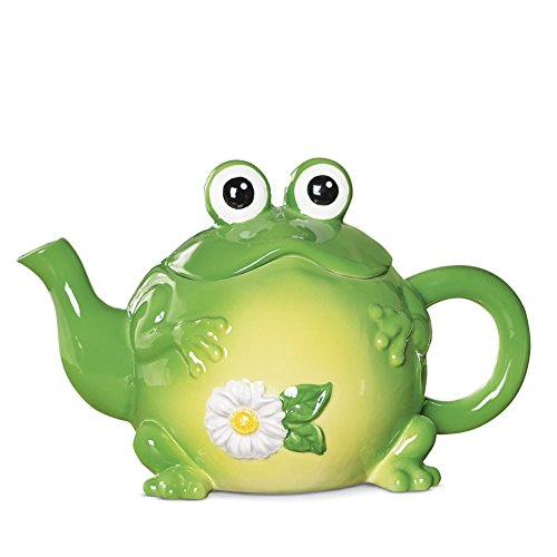 Shaped Ceramic Kitchen Teapot Green