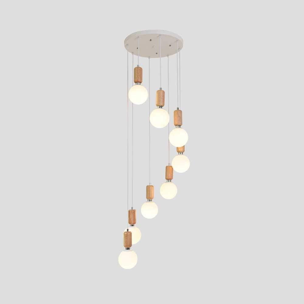 Cc-ccfxdd lampara techo, La luz de la lámpara moderna de madera color 3 Jefes de disco creativo colgante de madera del accesorio del techo, Moderno Duplex sala de estar de la lámpara, Apartamento pequ
