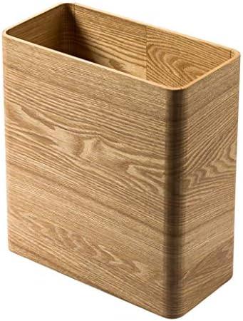 ゴミ袋 ゴミ箱用アクセサリ 長方形の屋外のゴミ箱クリエイティブシンプルなゴミ箱ホームリビングルームの寝室の収納バスルームのゴミ箱 キッチンゴミ箱 (Color : Natural)