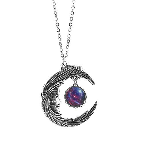 Fallen Womens Costumes (Celestial Woman Moon and Galaxy Charm Necklace)