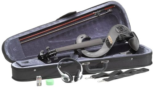Stagg EVN 4/4 BK Silent Violin Set with Case - Black