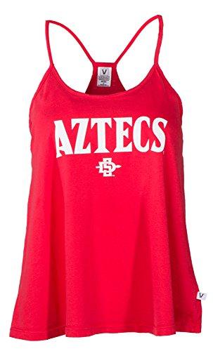 (Venley NCAA San Diego State Aztecs Rik HI-LO Lampshade Tank T-Shirt, Large, Red)