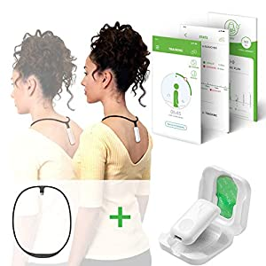 Upright GO 2 + Necklace Bundle – Lighter, Smaller Posture Corrector | Strapless, Discrete, Easy to Use Trainer with 30 Hours Battery Life | 1-Touch Sync App and Training Plan