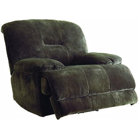 Homelegance 9723 1PW Upholstered Power Recliner Chair Dark Brown Textured Plush Microfiber
