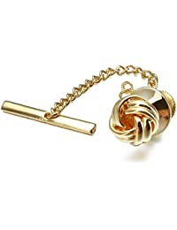 Sailor Knot Tie Tack for Men Metal Tie Pin Silver and Gold Color