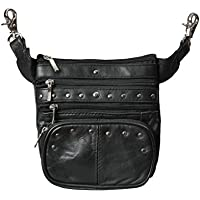 Leather Clip Pouch, Motorcycle Bag & Fanny Pack for Women Men by Bayfield Bags