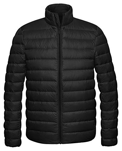 Wantdo Men's Packable Stand Collar Light Weight Down Jacket XX-Large - Jacket Bubble