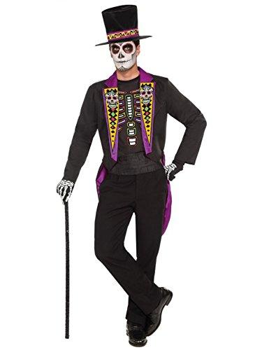 Forum Novelties Men's Day Of The Dead Formal Costume, Black, Standard