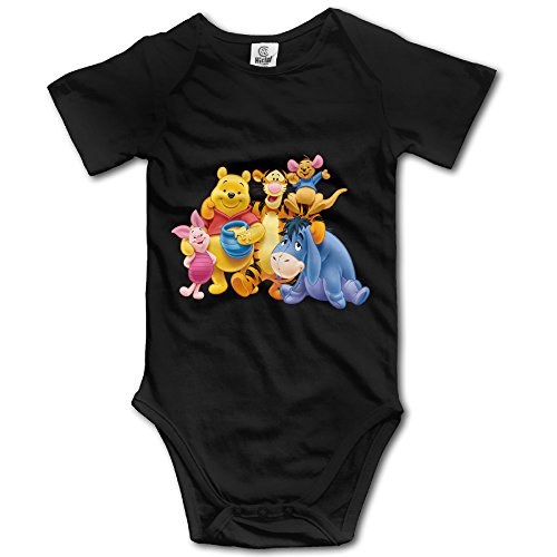 (Winnie The Pooh Unisex Short Sleeve Bodysuits For Baby)
