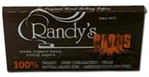 Randy's Roots All Natural Hemp Cigarette Rolling Papers with Wire