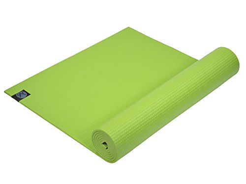 Youphoria Yoga 1/4-Inch Thick Memory Foam Mat with Carry Strap - Green