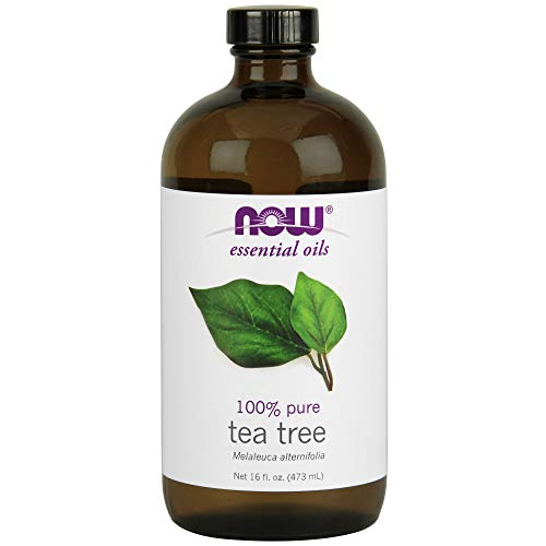 NOW Essential Oils, Tea Tree Oil, Cleansing Aromatherapy Scent, Steam Distilled, 100% Pure, Vegan, 16-Ounce