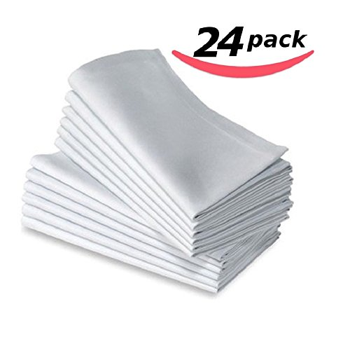 Bella Kline Deluxe BULK Cloth White Dinner Napkins, 24pk by BELLA KLINE DESIGN