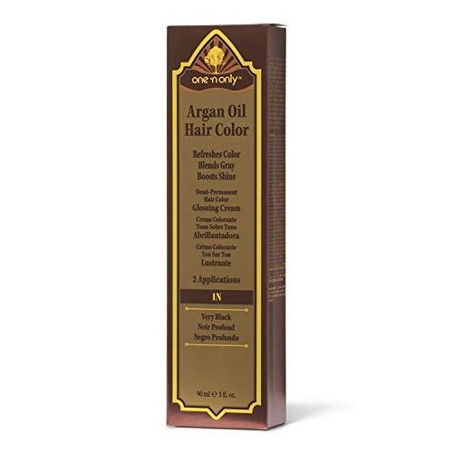 One 'n Only 1N Very Black Demi Permanent Hair Color Glossing Cream #1N Very Black