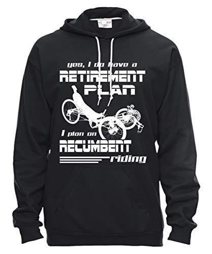 Recumbent Riding T Shirt, I Do Have A Retirement Plan Hooded Fleece - Anvil Pullover Hooded Fleece (XL, Black)