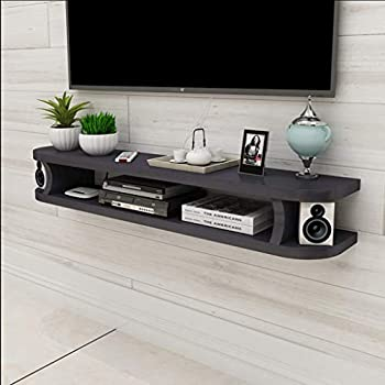 Amazon Com Floating Shelf Black Floating Wall Shelf Tv