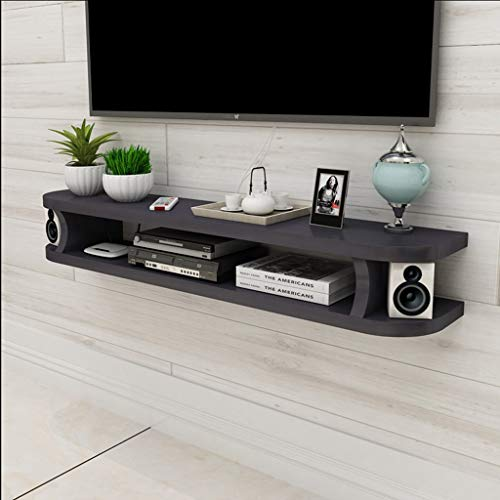 Floating Shelf Floating Shelf Wall TV Cabinet Wall Background Storage Shelf Open Shelf with Drawer for DVD Satellite TV Box Cable Box (Color : B, Size : 120CM)