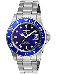 Men's Pro Diver Quartz Watch with Stainless Steel Strap, Silver, 20 (Model: 26971)