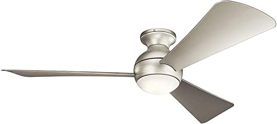Kichler 330152NI Sola 54″ Outdoor Hugger Ceiling Fan