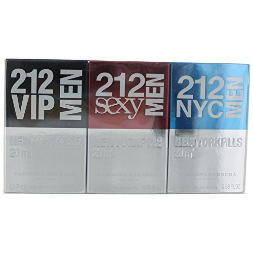 Carolina Herrera 212 Men New York Pills Gift Set 0.7oz (20ml) 212 VIP Men EDT + 0.7oz (20ml) 212 Sex