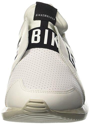 Bikkembergs Speed 870, Zapatillas de Estar por Casa para Hombre Bianco