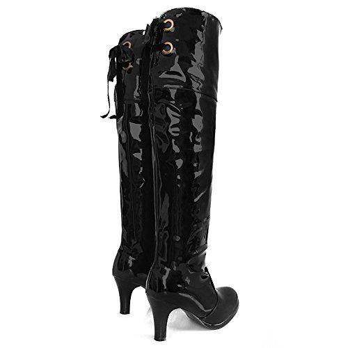 Razamaza Talons Bottes Black Mode Femmes rHqRUr