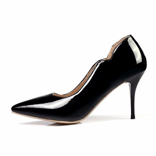 Zapatos de Tacón/Tamaño Grande los Zapatos de Tacón Alto, Zapatos de Otoño, Solo Zapatos Black