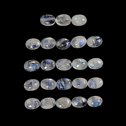 - Natural Rainbow Moonstone Cabs Oval 7x5mm Approximately 10.00 Carat (304)