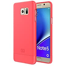 Samsung Galaxy NOTE 5 Case, Encased® Ultra-thin SlimSHIELD Hybrid Shell (**4 Cool Colors Available**) (Coral Pink)