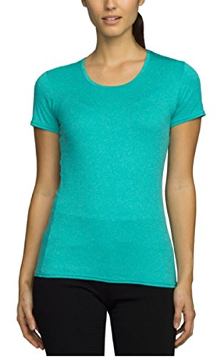 Degree Tee Shirts (32 Degrees Cool Womens Short Sleeve Tee Scoop Neck Shirt Heather Turquoise Green Medium)