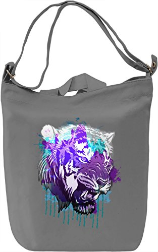 Colorful Tiger Borsa Giornaliera Canvas Canvas Day Bag| 100% Premium Cotton Canvas| DTG Printing|