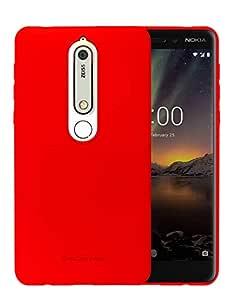 Nokia 6 2018 Molan Cano Flexible Matte Silicone Soft Back Case - Red
