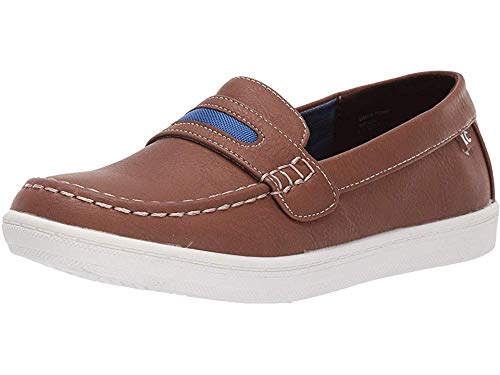 - Kenneth Cole REACTION Kids Boy's Simon Penny (Little Kid/Big Kid) Brown 1 Little Kid M