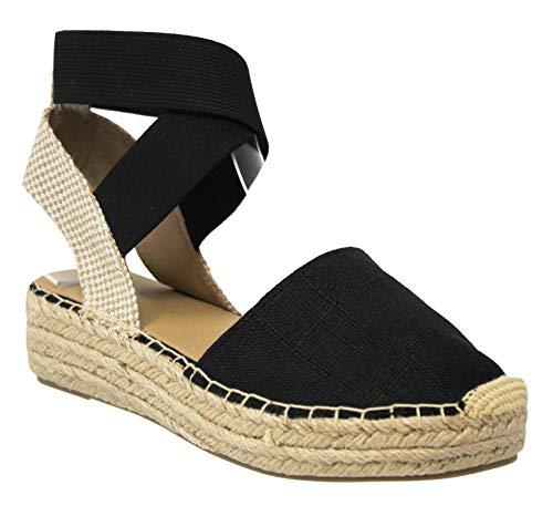 MVE کفش سکوی شیک و جذاب زنان کفش پاشنه بلند Espadrille Sandal