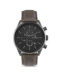Vincero - Reloj de pulsera para hombre con cronógrafo de 43 mm, movimiento de cuarzo japonés, Matte Gray, 43mm