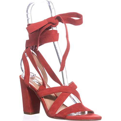 Suede Sandals Kailey Strappy Red Open INC Casual Concepts Toe International Spring Womens Z1wISAxq