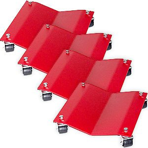 Merrick Machine MERM998002 Red Auto Dolly, Set of 4