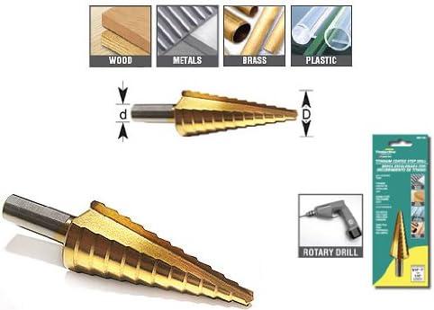 Timberline Step Drill Titanium 1//8-1//2 608-780
